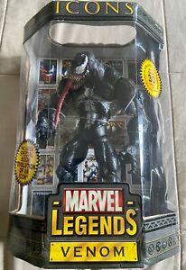 "MARVEL LEGENDS ICONS • VENOM 12"" Figure • Toy Biz • 2006 •  New in Box! Sealed!"