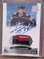 2019-20 UD THE CUP  KOLE SHERWOOD ROOKIE PATCH AUTO 3 COLOR LOGO 71 OF 249 CUMB