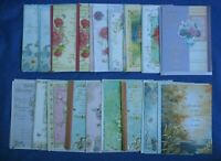 Vintage Greeting Cards Birthday-Sympathy Sacred Flowers Craft  Lot-18 Envelopes
