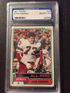 1981 Topps # 80 John Hannah Patriots Graded PGS 8.5