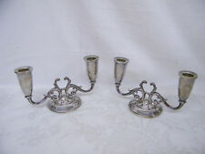 Vintage Pair Of Fisher Sterling Weighted C43 Candlesticks