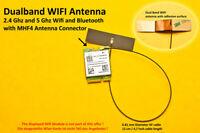 MHF4 Laptop/Embedded Dualband Antenna Antenne WIFI WLAN Bluetooth NGFF/M.2 12cm