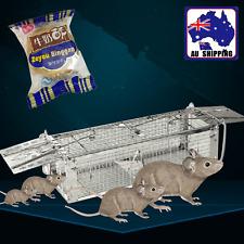Mousetrap Rat Trap Cage Small Live Animal Mouse Control Bait Catch PKEN61202