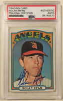 1972 Topps NOLAN RYAN Signed Autographed Baseball Card PSA/DNA #595