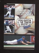 Kansas City Royals--2000 Pocket Schedule--Blue Crew