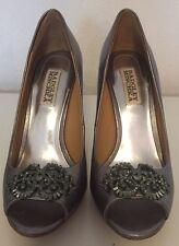 Badgley Mischka Susan Silver Women's Dressy Evening Heels Pumps Size 6.5 M