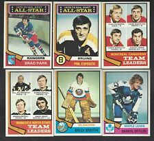 1974-75 Topps Hockey Finish Your Set Lot Pick 20 Cards EX-MT to NM Condition
