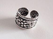 Triple Flower and Stem Ear Cuff Earring Sterling Silver Corona Sun Earcuff