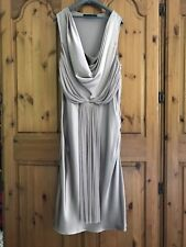 Amanda Wakeley couture Nude 100% soie Grecian Taille 16 blouse robe superbe