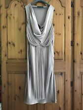 Amanda Wakeley couture Nude 100% Silk Grecian Size 16 gown dress stunning