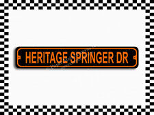(SA-1492) Heritage Springer Dr Harley Street Sign 3x18 Metal Plaque