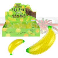 Squishy Squeeze Banana Toy Stress Relief ADHD Beads Jelly Xmas Stocking Filler
