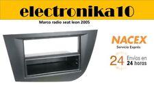 Soporte Marco de Montaje para Radio 1DIN Seat Leon 2005>2010 color Antracita