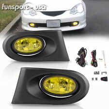 for 02-04 Acura RSX DC5 Type S Yellow Bumper Fog Light Lamps Pair w/Bulbs+Wiring
