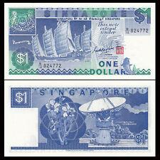 Singapore 1 Dollar, 1987, P-18, A-UNC