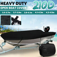 3.5-3.7m-4.5m Trailerable Heavy Duty Open Boat Cover Marine Grade 210D