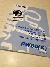 Yamaha PW80K PW80 K PW 80 80PW Peewee manuel atelier proprietaire  éd. 1997