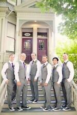 Light Gray Best Man Summer Suit Grooms Wedding Man 2 Pieces Vest Pants Suit New
