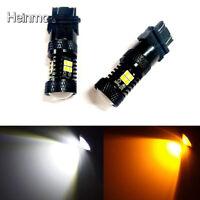 2 x 3157 LED Switchback 3030 SMD-Tagfahrlicht Blinker zweifarbige Glühlampen 12V