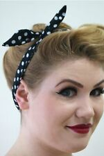 Banned Dancing jours Tiffany filaires Serre-tête Rockabilly 50 s PIN UP Blac Polkadot