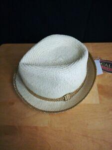 Scala Pronto Woman's Panama Hat Womens Gold Trim one size
