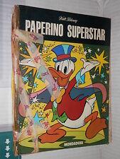 PAPERINO SUPERSTAR Walt Disney Mario Gentilini Mondadori 1976 narrativa ragazzi