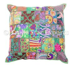 Indian Patchwork Cushion Cover Ethnic Boho Throw Pillows Decorative Square Case
