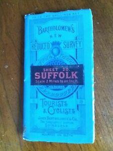 Bartholomew's New Reduced Survey Cloth map, Suffolk, Sheet 20