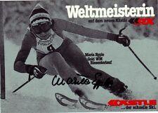 Maria Epple: SKI ALPIN GIGANTE slalom WM 1.1978 GER