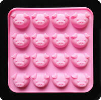 Pig Head Silicone Candy Chocolate Cake Cookie Cupcake Soap Mold Mould DIY Tool