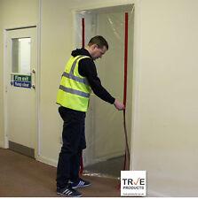 True 2 Zip Door Kit - Dust Stop Door for Renovation DIY Polytunnels Construction
