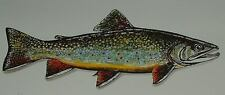 SIGNED Thomas Zotos Hand Colored Print BROOK TROUT Original from Copper Plate