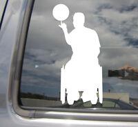 Wheelchair Basketball - Handicap Disable Car Window Vinyl Decal Sticker 04081
