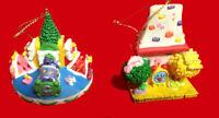 "McDonald's Ornaments 1996 ""Not a Creature was stirring"" 2 pc. set"