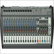 NEW Behringer PMP6000 Active 20-CH Powered Mixer Board 1600W Amplified w/Effects