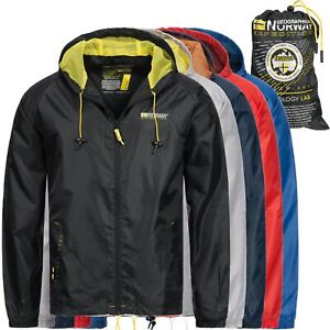 Geographical Norway Jacke Herren Regenjacke Windbreaker Outdoor mit Tasche OMBXT
