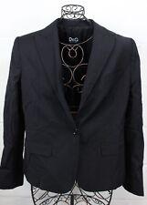 D&G DOLCE & GABBANA Black Boyfriend Blazer Jacket Sport Coat 48 12 Italy