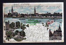 128515 AK Wesel 1899 Litho Kaiserplatz Kaiserhof Denkmal Schillschen Offiziere