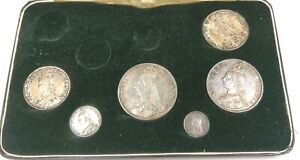 Part Set Of Victorian 1887 Silver Coins