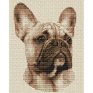 French Bulldog (Sepia) Cross Stitch Design (kit or chart)