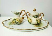 Schumann Arzberg Germany Tea Set Creamer Sugar Bowl and Platter