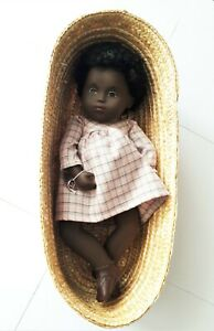 Beautiful black Baby Cara 1980s Sasha doll - rarely available - near-mint in box