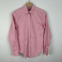 Brooks Brothers Womens Button Up Shirt Blouse Size 0 AU 6-8 Pink Long Sleeve