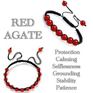 7 Chakra Bracelet Crystal Gemstone Jewellery Healing Stone Macrame Reiki Gift