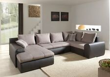 Corner Sofa Normandy with Bed Function Sleep Function Corner Corner Couch 01659