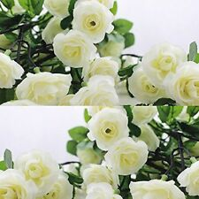 3X8Ft Artificial Rose Garland Silk Flower Vine Ivy Wedding Garden Decoration UK