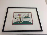 Pink Panther Pink Links Ltd Edition Serigraph Cel Framed