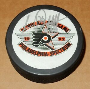 LUC ROBITAILLE LOS ANGELES KINGS AUTOGRAPHED 1992 NHL ALL-STAR GAME PUCK