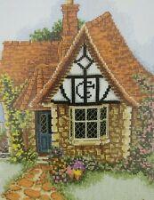 Lilliput Lane X Stitch Kit Flower Pots Cottage Multi Color Anchor Coats Vtg EUC