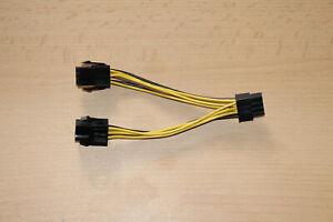 Grafikkarten Strom Adapter 2x6pin PCI-Express auf 1x8Pin PCI-Express